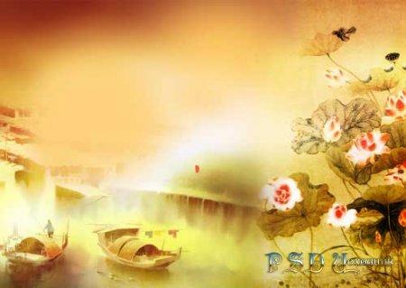 Утро в Китае - PSD исходник