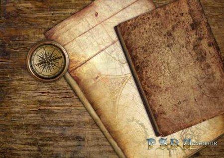 Пиратская карта - PSD исходник