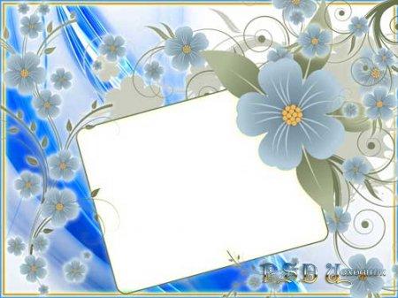 Фоторамка – Голубые цветы