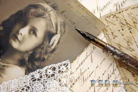 Старое письмо - PSD исходник