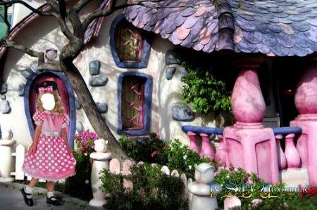 Фото коллаж  Сказочный домик