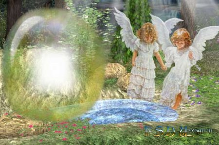 Фоторамка – Ангелочки