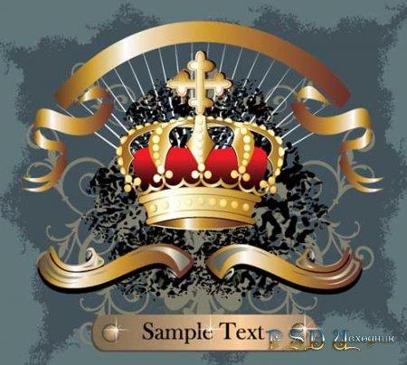 Золотая корона  в векторе