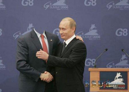 Фото коллаж  Встреча на G8