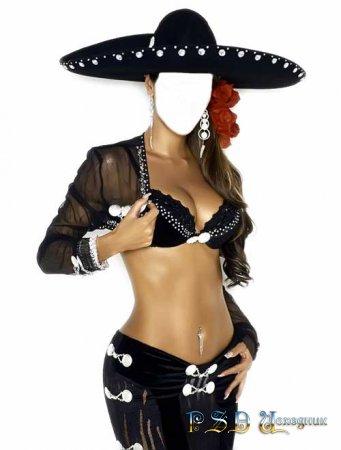 Фото коллаж  Мексиканка