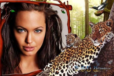 Фоторамка  Леопарды