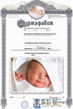 Фоторамка  Сертификат