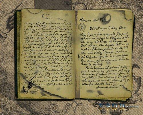 Старинная книга psd исходник
