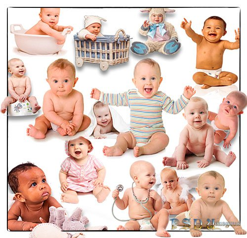 Коллекция Png клип-артов - Младенцы