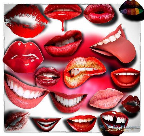 Клипарты для фотошопа - Поцелуи и улыбки