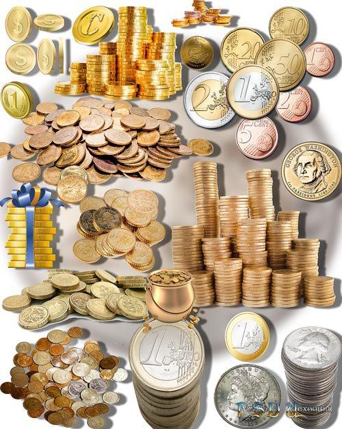 Растровые клипарты - Монеты