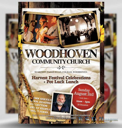 Woodhoven psd flyer template